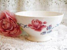画像1: ディゴワン 薔薇柄カフェオレボウル CANNES (1)