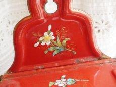 画像6: エトワール社 白いお花柄 赤いアリュメット缶 (6)