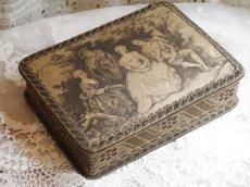 画像2: チョコレートの古い紙箱 (2)