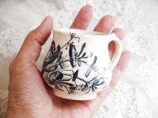 画像7: ブルー系鳥柄の小さなクレミエカップ (7)