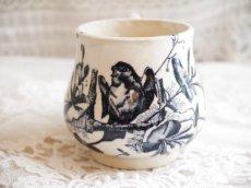 画像2: ブルー系鳥柄の小さなクレミエカップ (2)