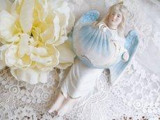 画像1: ブルー系天使の聖水盤 (1)