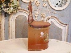 画像5: レア!ハンドペイントのバラ模様のセル缶 (5)