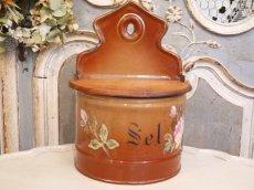 画像2: レア!ハンドペイントのバラ模様のセル缶 (2)