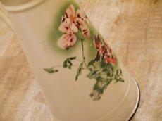 画像8: ジャピー社 ピンクの花柄大きめジャグ (8)