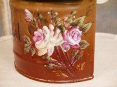 画像7: レア!ハンドペイントのバラ模様のセル缶 (7)