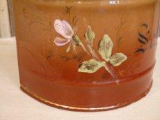画像8: レア!ハンドペイントのバラ模様のセル缶 (8)