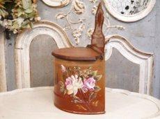 画像3: レア!ハンドペイントのバラ模様のセル缶 (3)