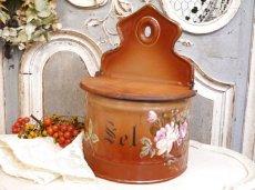 画像1: レア!ハンドペイントのバラ模様のセル缶 (1)