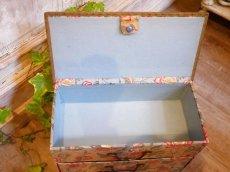 画像8: 花とツタ柄四段カルトナージュボックス (8)