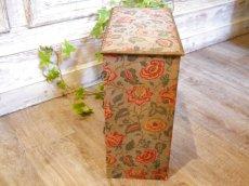 画像3: 花とツタ柄四段カルトナージュボックス (3)