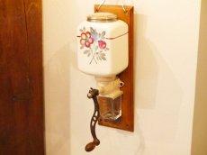 画像1: プジョー サルグミンヌ壁掛け花柄コーヒーグラインダー (1)