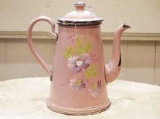画像4: 花柄小さめサイズのピンクのホーローポット (4)