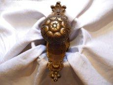 画像3: 装飾カバー付き 真鍮製ドアノブ (3)