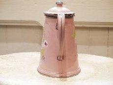 画像3: 花柄小さめサイズのピンクのホーローポット (3)