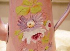 画像6: 花柄小さめサイズのピンクのホーローポット (6)