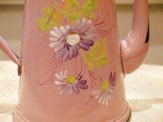 画像7: 花柄小さめサイズのピンクのホーローポット (7)