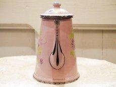 画像5: 花柄小さめサイズのピンクのホーローポット (5)