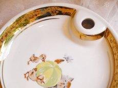 画像5: 猫とアヒルのヒナの絵柄 子供用保温皿 (5)