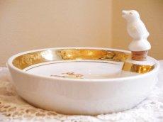 画像3: 猫とアヒルのヒナの絵柄 子供用保温皿 (3)