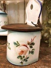 画像2: ジャピー社 グリーンぼかし 薔薇柄セル缶 (2)