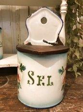 画像4: ジャピー社 グリーンぼかし 薔薇柄セル缶 (4)