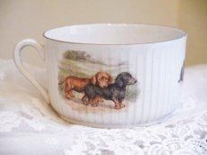 画像2: 子供と子犬柄 陶器のカップ (2)