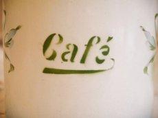 画像7: ジャピー社 ブルーぼかし ビオラ柄キャニスター Cafe (7)