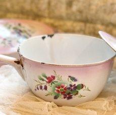 画像3: DOULIN et DELANGRE社ピンクぼかし 花柄 蓋つき片手鍋 (3)