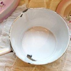 画像6: DOULIN et DELANGRE社ピンクぼかし 花柄 蓋つき片手鍋 (6)