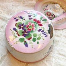 画像5: DOULIN et DELANGRE社ピンクぼかし 花柄 蓋つき片手鍋 (5)