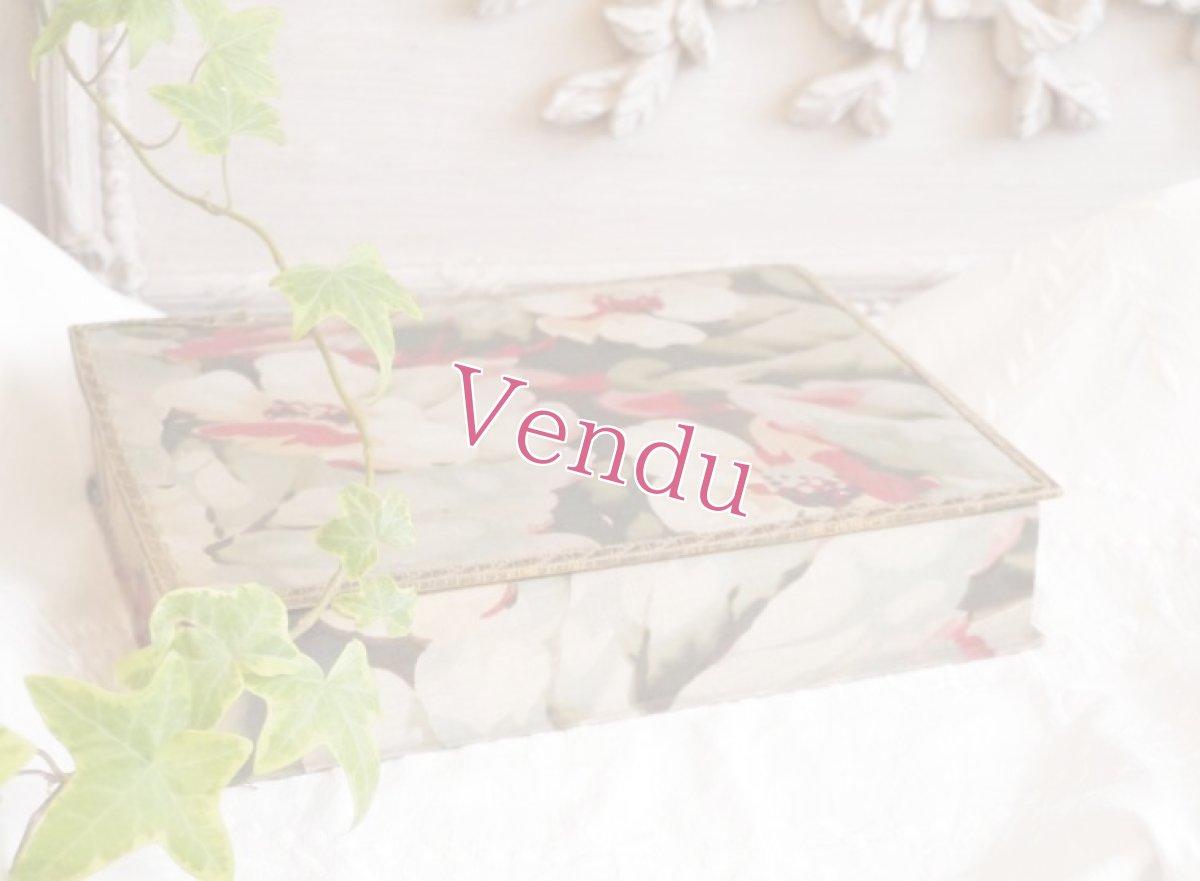 画像1: 通常価格¥5500→¥3850 * グリーン メタルブレード縁取り花柄カルトナージュ (1)