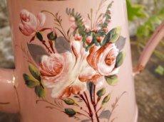 画像3: AUBECQ社ピンク薔薇柄ホーローポット (3)