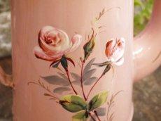 画像4: AUBECQ社ピンク薔薇柄ホーローポット (4)
