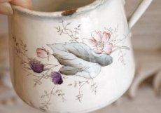 画像4: BF社 ベリーとお花柄のホーロー製カップ&ソーサー (4)