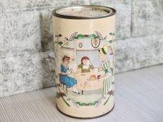 画像2: 女性と子供柄の円柱型Tin缶 (2)