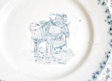 画像2: St.Amand ロバと女性柄 おままごと小皿 (2)