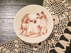 画像1: リュネヴィル 老人と子供柄 おままごと深皿 (1)
