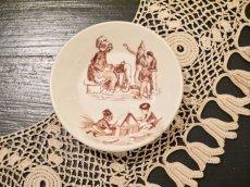 画像1: リュヴィネル 母親と子供たち絵柄 おままごと深皿 (1)