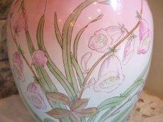 画像5: ピンクとブルーのぼかしお花柄大きめジャグ (5)