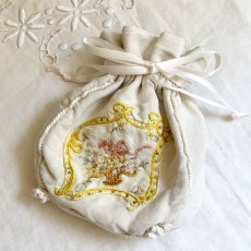 画像6: 花籠のリボンワーク刺繍 レティキュール (6)