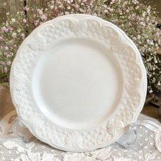 画像1: ショワジールロワ 白いレリーフ皿 (1)