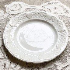 画像2: ショワジールロワ 白いレリーフ皿 (2)