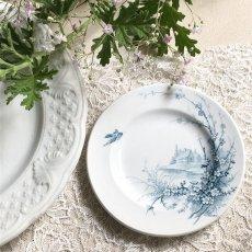 画像1: ジアン 梅の花と小鳥柄 おままごと小皿 (1)