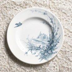 画像2: ジアン 梅の花と小鳥柄 おままごと小皿 (2)