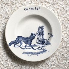 画像2: ジアン 赤ずきん おままごと小皿(深皿タイプ)ブルー Où vas tu? (2)