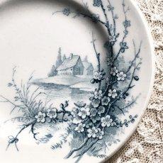 画像4: ジアン 梅の花と小鳥柄 おままごと小皿 (4)