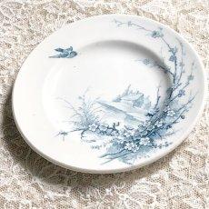 画像3: ジアン 梅の花と小鳥柄 おままごと小皿 (3)