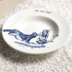 画像3: ジアン 赤ずきん おままごと小皿(深皿タイプ)ブルー Où vas tu? (3)