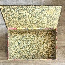 画像6: アネモネ柄黄色いカルトナージュBOX (6)